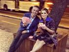 Após festa, Otaviano Costa e Flávia Alessandra se rendem ao fast food