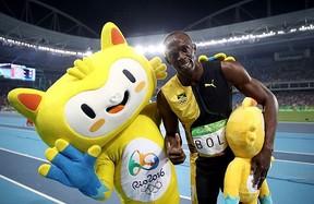 Vinicius e Usain Bolt (Foto: Reprodução / Instagram)