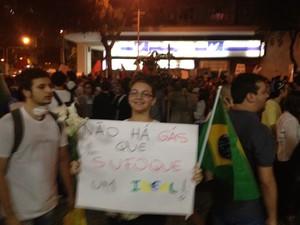 Estudante diz fazer parte de uma nova geração (Foto: Luís Bulcão/G1)