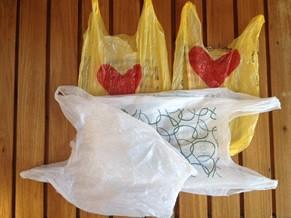 Sacolas plásticas de polietileno, o propileno e o polipropileno (Foto: Divulgação)