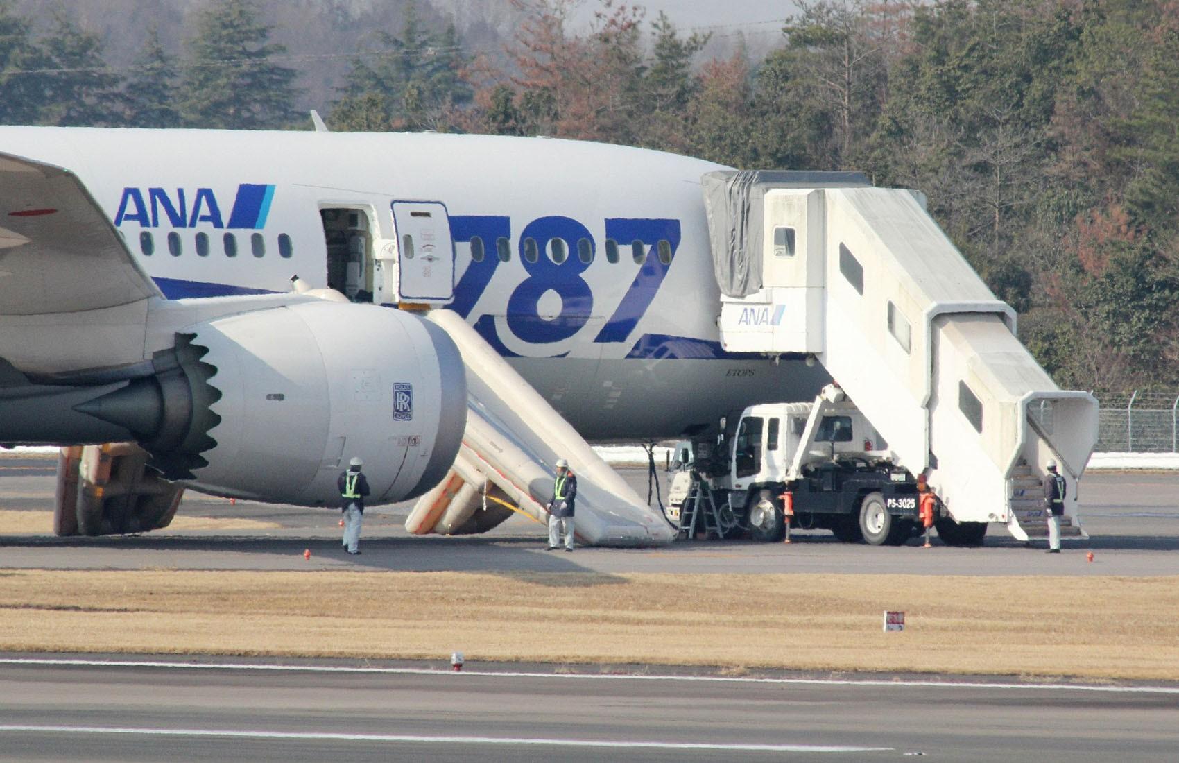Um problema em uma bateria provocou nesta quarta-feira (16) um pouso de emergência de um Boeing 787 Dreamliner da All Nippon Airways (ANA) no Japão. (Foto: Jiji Press/AFP)