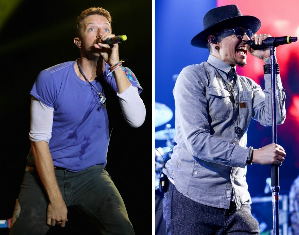 Chris Martin e Chester Bennington (Foto: Getty Images)