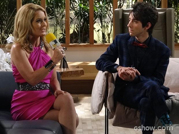 Pamela em entrevista bafo para Shin (Foto: Geração Brasil / TV Globo)