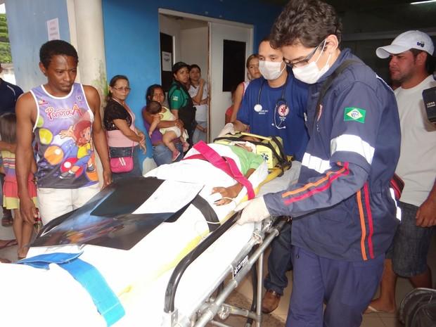 Menino foi transferido ao HCA em Macapá e aguarda cirurgia (Foto: Dicom/PM)