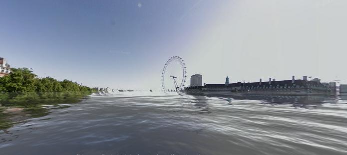 Londres inundada (Foto: Reprodução/Edivaldo Brito)