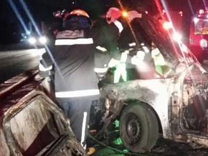 Duas pessoas morreram no acidente em Joinville (Foto: PRF/Divulgação)