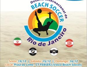desafio internacional de futebol de areia (Foto: Divulgação)