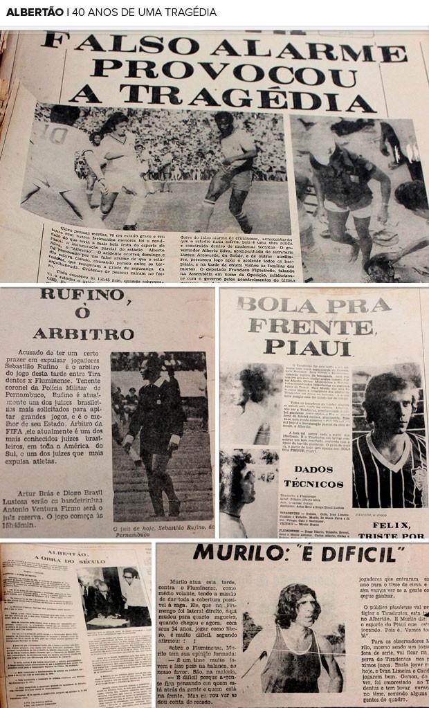 MOSAICO : 40 anos do estádio Albertão. (Foto: Náyra Macêdo)