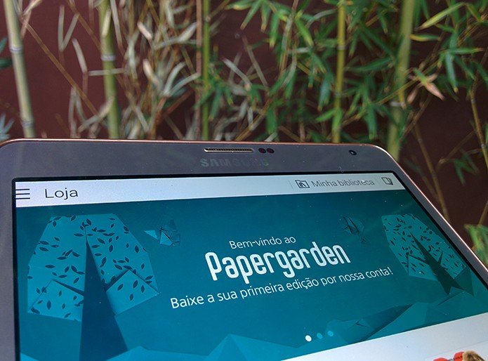 Papergarden é uma banca de revista para donos do Galaxy Tab S (Foto: Paulo Alves/TechTudo)
