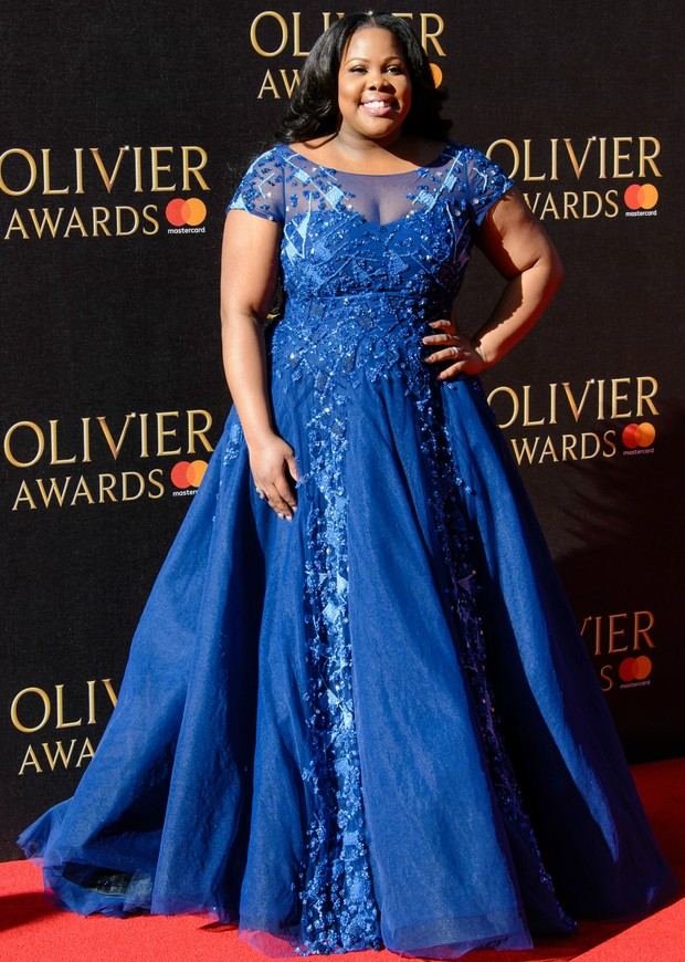 Amber Riley no Olivier Awards, em Londres (Foto: Getty Images)