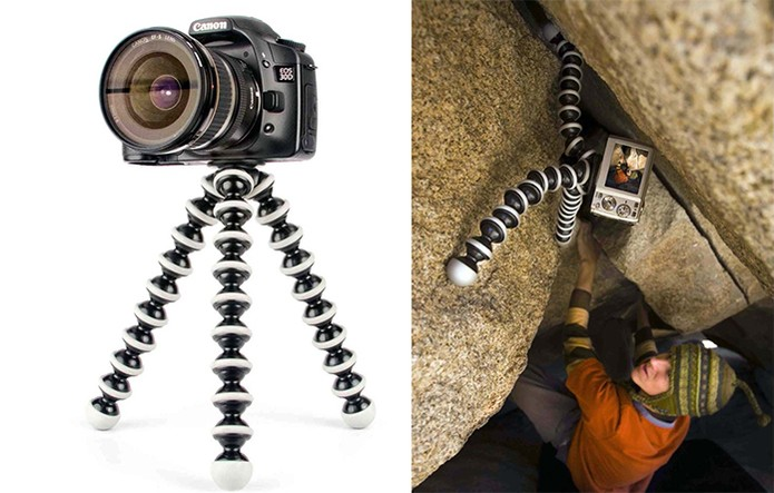 Tripé Gorillapod tem design flexível e aguenta câmeras de até 3 Kg (Foto: Divulgação/Gorillapod)
