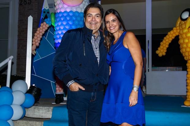 Fausto Silva e a esposa Luciana Cardoso (Foto: Manuela Scarpa / Photo Rio News)
