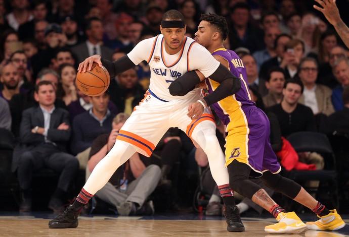New York Knicks vs. Los Angeles Lakers NBA (Foto: Reuters)