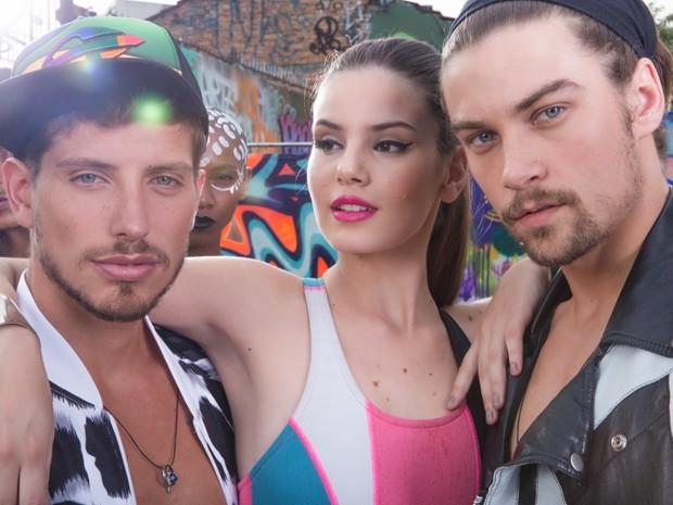 Daniel, Angel e Leo posam para as lentes do fotógrafo (Foto: Beto Roma/ TV Globo)