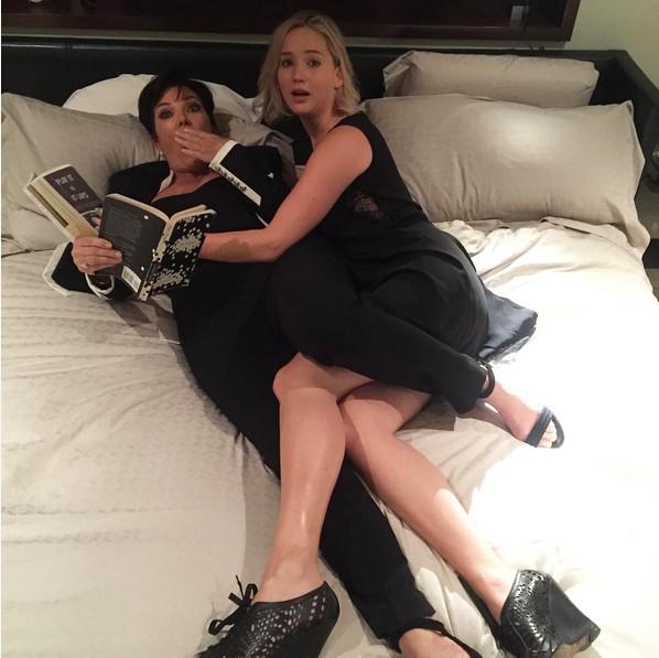 Jennifer Lawrence e Kris Jenner (Foto: Reprodução/Instagram)