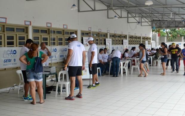 Setor de atendimento clínico foi um dos serviços mais procurados pela população de Rio Branco (Foto: Murilo Lima)
