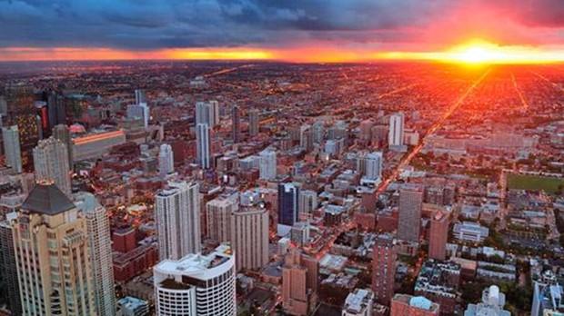 Sunset em Chicago (Foto: Divulgao)