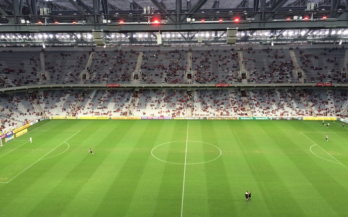 Arena da Baixada Atlético-PR x Atlético-MG Série Brasileiro (Foto: Ana Helena Goebel)