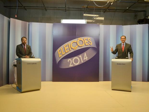 Candidatos ao governo do estado debatem propostas na TV Amapá (Foto: John Pacheco/G1)