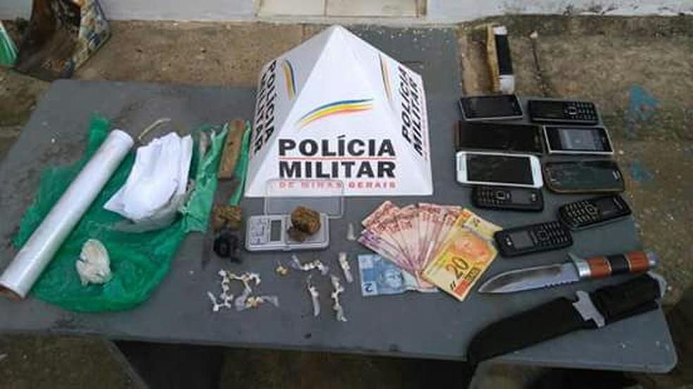 Material apreendido durante a operação (Foto: Polícia Militar/Divulgação)