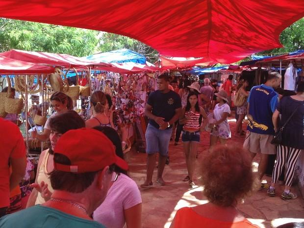 Todos os produtos expostos na Feira do Cerrado são artesanais, em Goiânia, Goiás (Foto: Luísa Gomes/G1)
