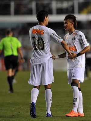 Neymar e Ganso Santos (Foto: divulgação/Santos FC)