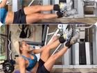 Karina Bacchi mostra série de exercícios para ter barriga sarada