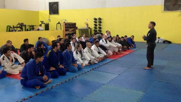 Seminário de jiu-jítsu em Ji-Paraná (Foto: Pâmela Fernandes)