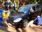 Motorista perde controle do veículo e invade trecho de bonde no Taquaral