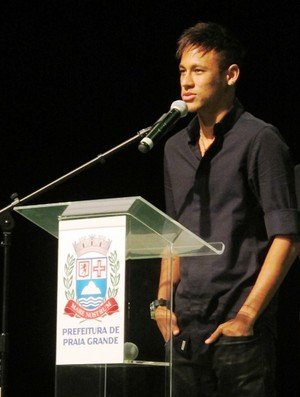 Neymar em Praia Grande (Foto: Lincoln Chaves)