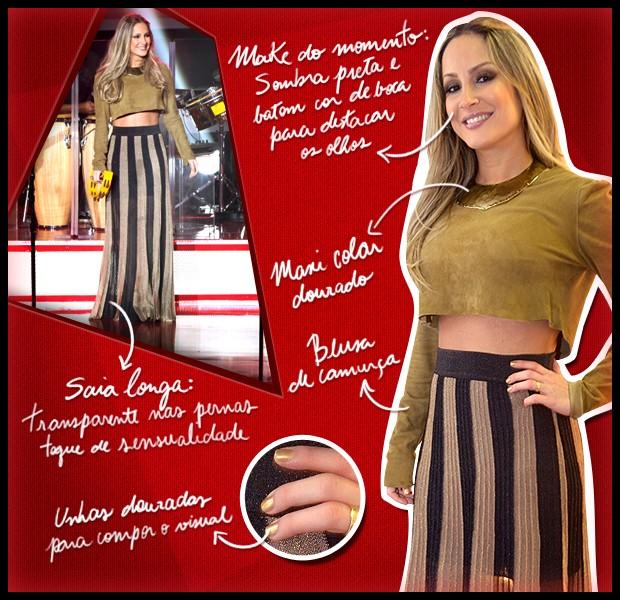 Figurino Claudia Leitte terceiro episódio 07-10 (Foto: The Voice Brasil/TV Globo)