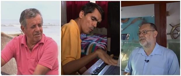 Pedro, Edvaldo e Wanderley foram os protagonistas do 'Painel' desta semana (Foto: Reprodução/RPC)