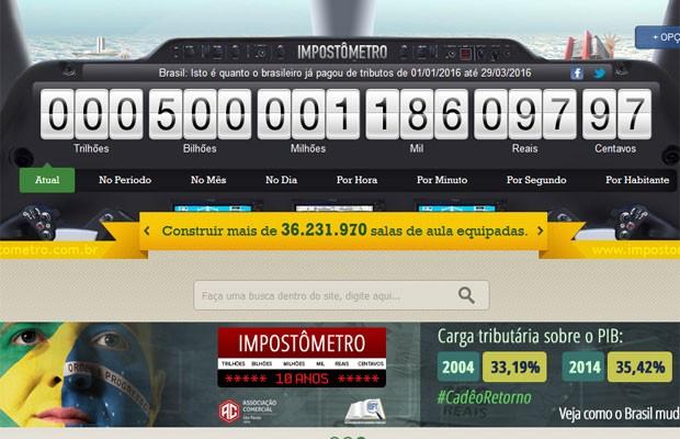 Brasileiros já pagaram R$ 500 bilhões em impostos em 2016 (Foto: Reprodução)