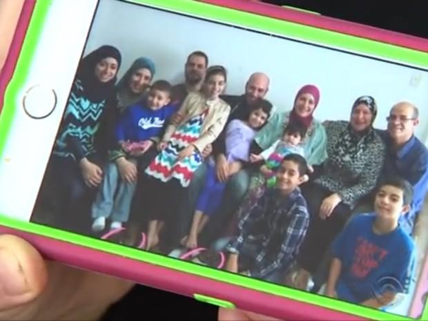 Parte da família de Maysun fugiu da guerra na Síria (Foto: Reprodução/RBS TV)