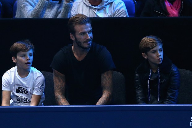 Cruz, David e Romeo Beckham (Foto: getty images)