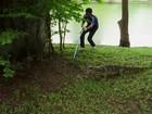 Lagartos gigantes invadem parque na Tailândia