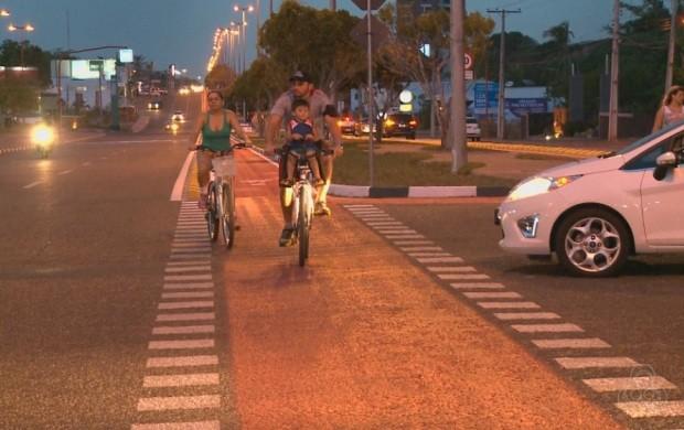 Ciclistas também falam do mal uso das ciclovias (Foto: Bom Dia Amazônia)