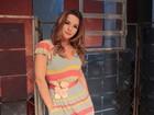 Regiane Alves posa para o EGO nos bastidores da peça 'Enfim, Nós'