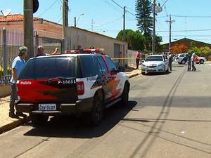 Empresário é baleado na cabeça durante assalto em Campinas (Foto: Reprodução EPTV)