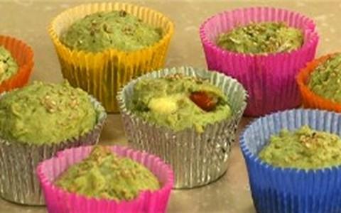 Receita para crianças: muffin de espinafre