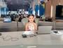 Admiradora de televisão, Mariana Mesquita visita redação da TV Mirante