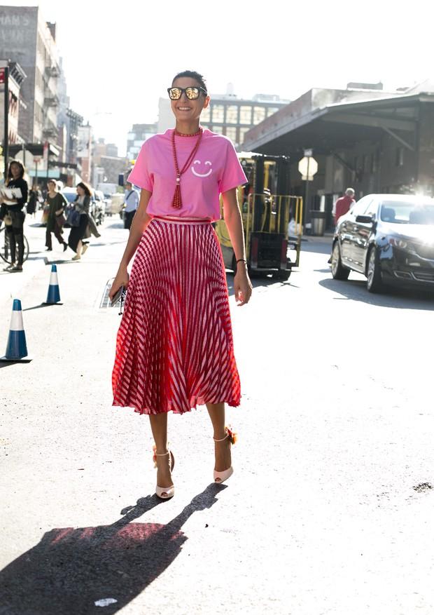 Streetstyle na NYFW (Foto: Adriano Cisani / What A Street)