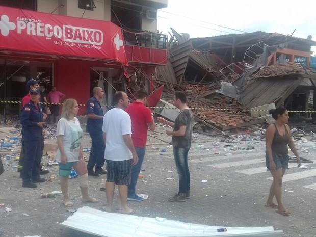 Moradores do Centro de São João Batista ficaram assustados com explosão  (Foto: Dirleni Dalbosco/Divulgação)