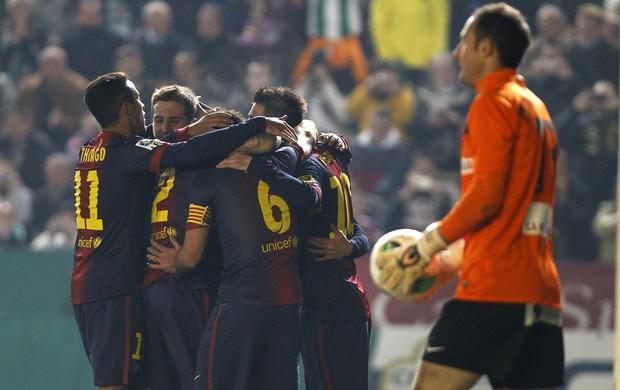 Barcelona comemoração (Foto: AP)