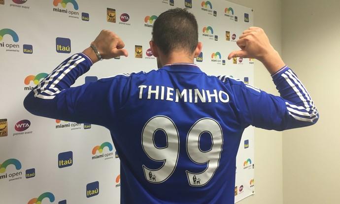 Dominic Thiem Thieminho futebol Chelsea (Foto: Thiago Quintella)