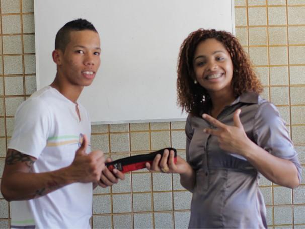 Wilson e Eva durante a gravação para o Conexão Criança Esperança (Foto: Divulgação)