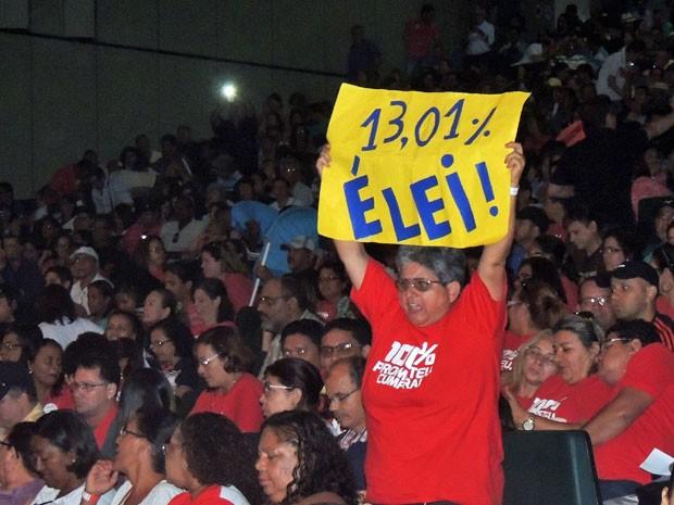 Em assembleia, professores de PE decidem manter paralisação (Foto: Marina Barbosa / G1)