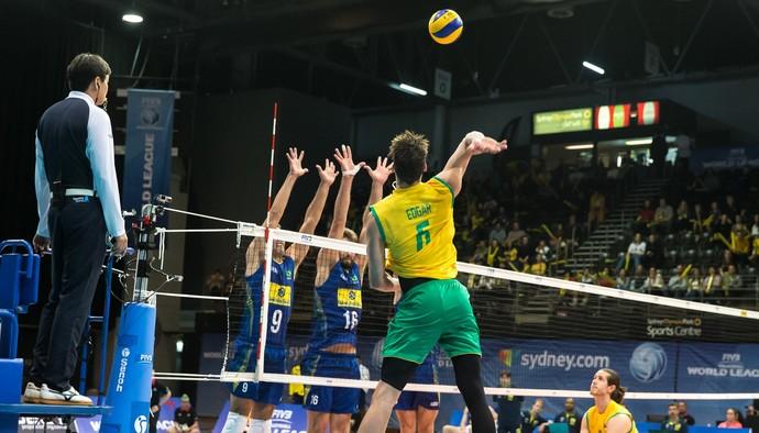 Austrália x Brasil Liga Mundial (Foto: Divulgação / FIVB)