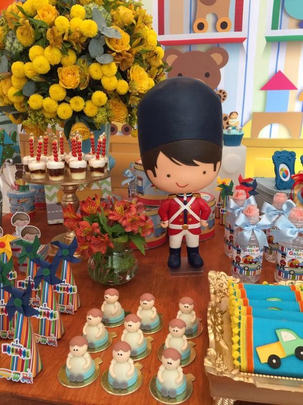 Decoração da festa do filho de Fernanda Gentil (Foto: Lorena Duque Festas / Divulgação)