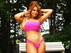 'Agora tenho o corpo que eu sempre quis', diz Geisy Arruda, que posa de biquíni após perder 7kg